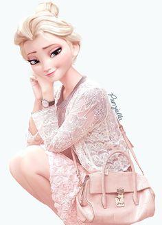 Le look des personnages Disney plutôt rétro amuse beaucoup la toile, c'est pourquoi la jeune illustratrice Punziella a décider de relooker princesses et princes avec des vêtements plus à la mode...