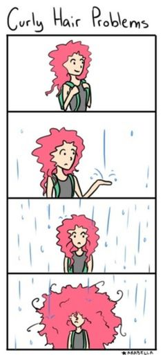 The struggles of CURLY hair