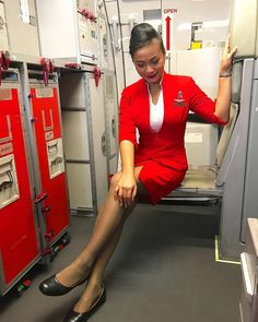 From @yamonpat_kae -  Happy flying  #happy #flying #happyworking #flyhigh #flywithme #flightcrew #flightattendant #flightattendantlife #flightattendantclub #stewardess #topstewardess #asianflightattendant #asiancrew #aircrew #airlinescrew #airasiathailand #airasiacrew #crewme #crewfie #crewiser #cabincrew #cabincrewlife #cabincrewclub #cabinattendant #aviation #redwings #avgeek