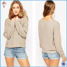 Hot Sale 2015 New Fashion Women Long Sleeve Pullovers Loose Jumper Crochet Casual Sweater Knitwear     Best Seller follow this link http://shopingayo.space