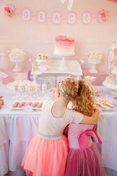 Pretty Pink Ballerina Birthday Party - Birthday Party Ideas for Kids and Adults Ballerina Birthday Parties, Ballerina Party, Princess Birthday, Princess Party, Birthday Party Themes, Girl Birthday, Birthday Ideas, Party Deco, Party Fiesta