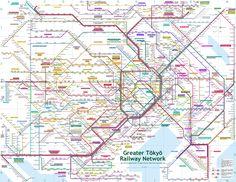 tokyo rail network - Google Search