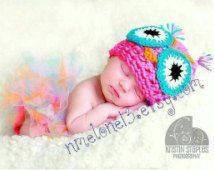 Newborn  costume owl set, baby  costume, owl costume, hat and diapercover-tutu owl, baby girl owl costume.owl costume hat.