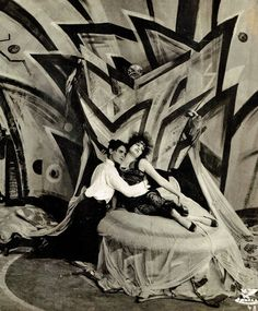 Genuine (1920, dir. Robert Wiene) Set design by German Expressionist painter César Klein.  (VIA)