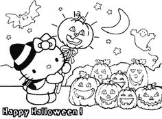 hello kitty halloween coloring thought it would be a cute shirt! @Victoria Brown Brown Walker