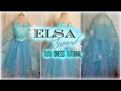 How to make an Elsa Dress - D.I.Y. Elsa Tutu Dress Tutuorial - YouTube