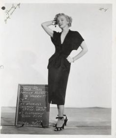 Marilyn in a costume test for As Young as you Feel, 1951.