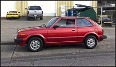 1980s honda civic - I remember when Mom got hers, she would lay the back seat down and my sister and I would sleep on the back on road trips.