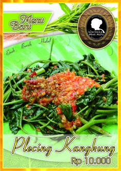 Menu Plecing kangkung tersedia di cabang Slamet Riyadi 121 Solo (Depan SMP Bintang Laut)