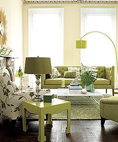 A Twist of Lime.......love the lime end table and lamp