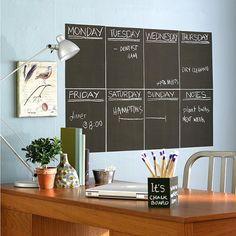 Removable Chalkboard Wallies  http://www.roehampton-online.com/?ref=4231900  #gadgets #novelty #office #work #design #cool #unique