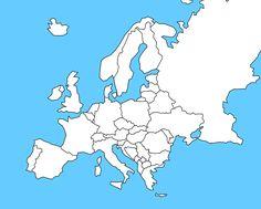 Výsledek obrázku pro zš slepá mapa evropy