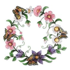 Just found this Metal Floral Garden Wreath - Butterfly Wreath -- Orvis on Orvis.com!