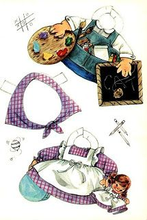 Sharon's Sunlit Memories: Toodles A Walking Paper Doll, Artcraft #4416, 1966