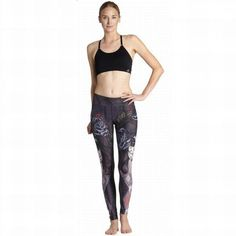 Z-Leisure Women Workout Yoga Pants Digital Print Fitness Compression Running Tights Leggings Sexy Sports Clothing Jogging YG043