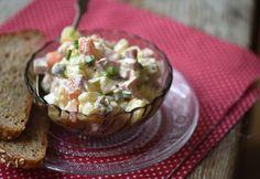 Orosz hússaláta egyszerűen My Recipes, Guacamole, Potato Salad, Pork, Food And Drink, Mexican, Potatoes, Cooking, Ethnic Recipes