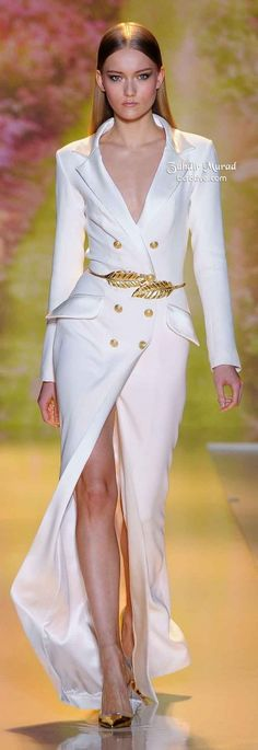 If I had to get married at the court house, i'd want to wear a suit, This would be PERFECT! Zuhair Murad Spring 2014 Haute Couture