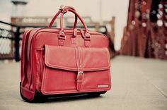 Clark & Mayfield Stafford Leather rolling laptop bag