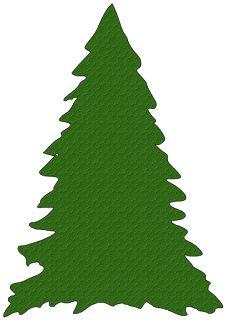 Black Silhouette Die Cut Christmas Tree Border