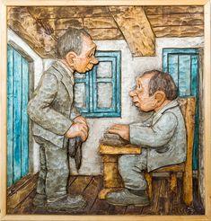 Artwork by Danish Woodcarver Thomas Dam - History of Dam Trolls - Dam Troll Collectors Troll Dolls, Paper Clay, Danish Design, Wood Carving, Design Art, History, Artist, Artwork, Poster