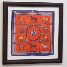 121eda63c9f5 Framed Hermes scarf. Frame Shop, Equestrian Decor, Craft Organization,  Hermes, Picture
