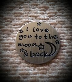 I Love You to the Moon and Back  Floating by CreativeDesignsByEJ