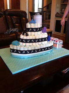 Diaper cake boat