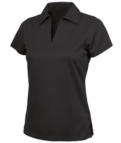 Charles River Apparel Style 2213 Women's Smooth Knit Solid Wicking Polo - SweatshirtStation.com #blackladiespolo #womenspolo #salepolo