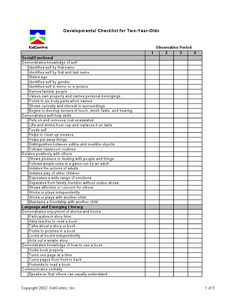 Assessment 2 year old page 1 of 3 Preschool Checklist, Preschool Assessment, Preschool Lessons, Preschool Classroom, Preschool Learning, Preschool Activities, Teaching, Classroom Ideas, Kindergarten