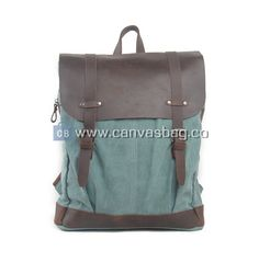 This canvas rucksack is an awesome canvas backpack camera bag, it has a vintage style and a two leather belts on the front of the rucksack. Rucksack Backpack, Laptop Backpack, Leather Backpack, Back To School Bags, Shoulder Backpack, Wholesale Bags, Leather Bags Handmade, Canvas Leather, Luggage Bags
