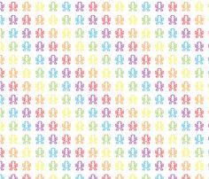 Retro rainbow pixel monkey fabric by vectorific_design on Spoonflower - custom fabric
