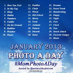 January Photo A Day Challenge #MomPhotoADay