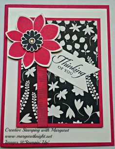 Melon Mambo Card Stock & Classic Stampin' Pad, Back to Black DSP & Petal Potpourri Stamp Set (Stampin' Up!)