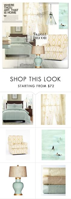 """""""Pastel Home"""" by molly2222 ❤ liked on Polyvore featuring interior, interiors, interior design, home, home decor, interior decorating, Madison Park, Sweet Dreams, Leftbank Art and Barclay Butera"""