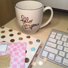 Hello Gorgeous mug by Devon Alana {via thenewnaples.com}