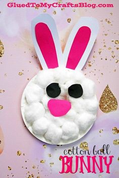 Paper Plate & Cotton Ball Bunny {Kid Craft} Easter Spring DIY for Toddlers The post Cotton Ball Bunny {Kid Craft} appeared first on Easy Crafts. Easter Crafts For Toddlers, Spring Crafts For Kids, Daycare Crafts, Bunny Crafts, Paper Crafts For Kids, Toddler Crafts, Flower Crafts, Preschool Crafts, Spring Craft Preschool