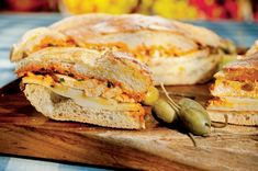 Chicken Muffuletta With Spicy Olive Relish Mayonnaise Recipe