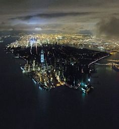 The power outage in Manhattan after the Sandy Superstorm