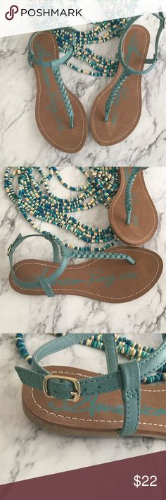 American Rag Braided Sandals Boho Beach Summer 8 🍃 Brand new, American Rag from Macys, braided sandals. Womens size 8. Ankle strap slides around so you can have the buckle where ever you want. These look great with turquoise jewelry 🌼🌼  🍃🍃🍃🍃🍃🍃🍃🍃🍃🍃🍃🍃  🌸 Fabric- man made faux leather 🌸 Condition- NWT, No box 🌸  Boho, festival, beach, cruise, bohemian, hipster, gyspy  💕 Offers welcome 💕 American Rag Shoes Sandals