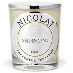 Parfums de Nicolai Miel-Encens Candle: A fragrance composed of incense from Somalia, precious woods and wild honey.
