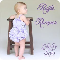 A Couple of Craft Addicts: Ruffle Romper from Melissa @ Melly Sews