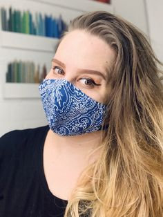 Organic Cotton Face Mask  Washable Mask  Pollution Mask Travel Mask  Cool Mask  Festival Mask  Eco Friendly Mask Cool Masks, Small Faces, Donate To Charity, Ear Loop, Organic Cotton, Eco Friendly, Cotton Fabric, Cool Stuff, How To Wear