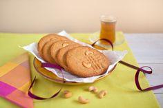 Rica y crujiente galleta de anacardos. El anacardo en su punto de sal le confiere a esta galleta un exquisito sabor para una perfecta y saludable merienda