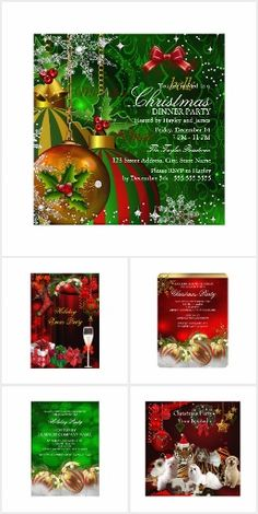 Christmas Party Invitations Holiday