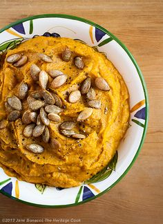 Chile-pumpkin hummus.