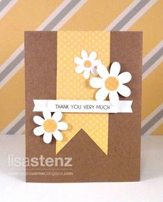 Thank You Card by lisastenz - Cards and Paper Crafts at Splitcoaststampers