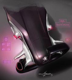 Peugeot HR1 Concept Design Sketch
