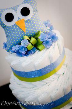 Owl Diaper Cake - Baby Shower Gift