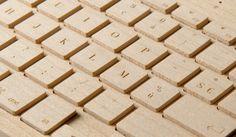 *wooden keyboard - http://www.fubiz.net/2012/09/18/wooden-keyboard/