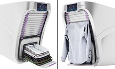 """#DailyMailUK .... """"It is 32in tall and 28in wide and can fit in most laundry rooms.. Users hang clothes and tell machine what type of garment it is.. Will be on the market in 2018 for $700 to $850."""".... http://www.dailymail.co.uk/sciencetech/article-3622491/The-850-gadget-folds-laundry-robot-armsand-steam-creases-minute.html#ixzz4ASYUpPXf"""